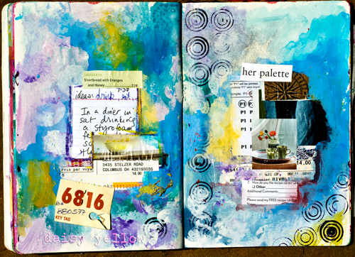 Unplanned Art Journal Page