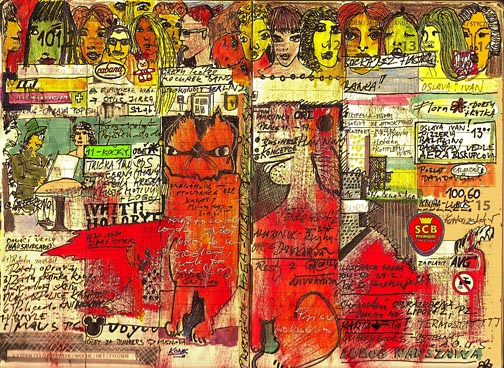 Ale Motl art journal, spread 7