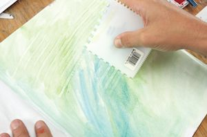 Step 1: Paint with Watercolor.