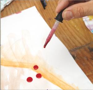 Step 1: Drip paint.