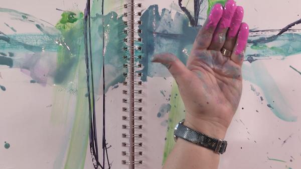 Finger Painting Art Journaling Live 2