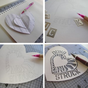 Paper Cut Hearts Step-Out