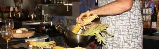 Tom cooking, photo by Earl Zachery