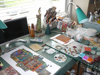 Laurie Mika workspace