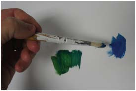 Practice mixing: start with two colors and pull colors toward each other.