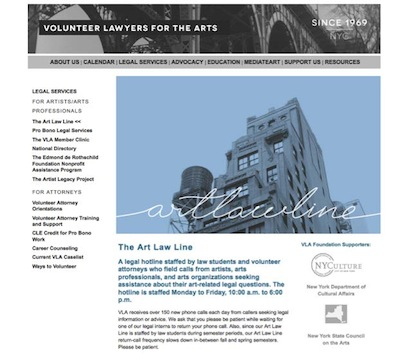 Volunteer Lawyers for the arts