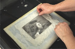 Step 1: Lay your photo on a sheet of paper