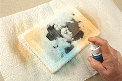 Step 11: Spray paper with ink or paint.
