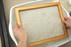Step 2: Using a dip mold, make a new piece of paper.