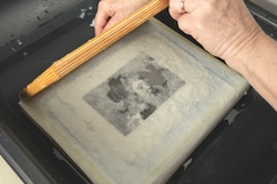 Step 6: Lift the mould off the paper.