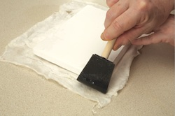 Step 9: Apply PVA glue to the edges of your paper.