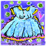 How to Paint and Stencil a Dress