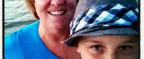 Jill and her daughter at Lake McConaughy