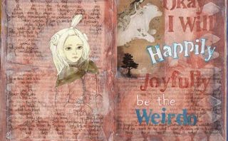 art journal page by Zom Osborne