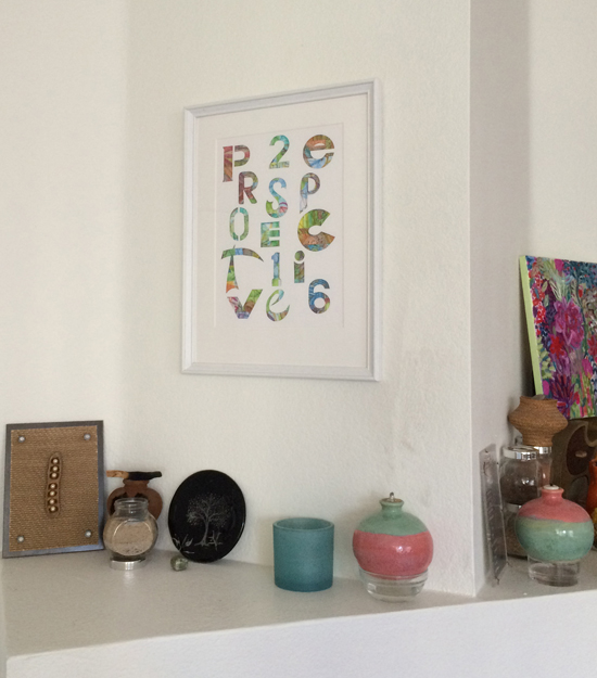 Frame and display your word of the year to keep the intention alive.